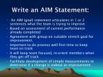 write an aim statement