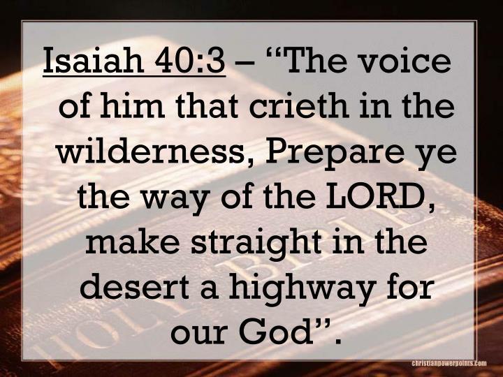 Isaiah 40:3