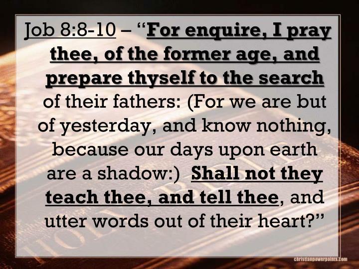 Job 8:8-10