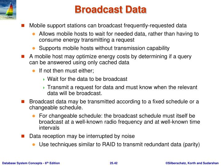Mobile support stations can broadcast frequently-requested data