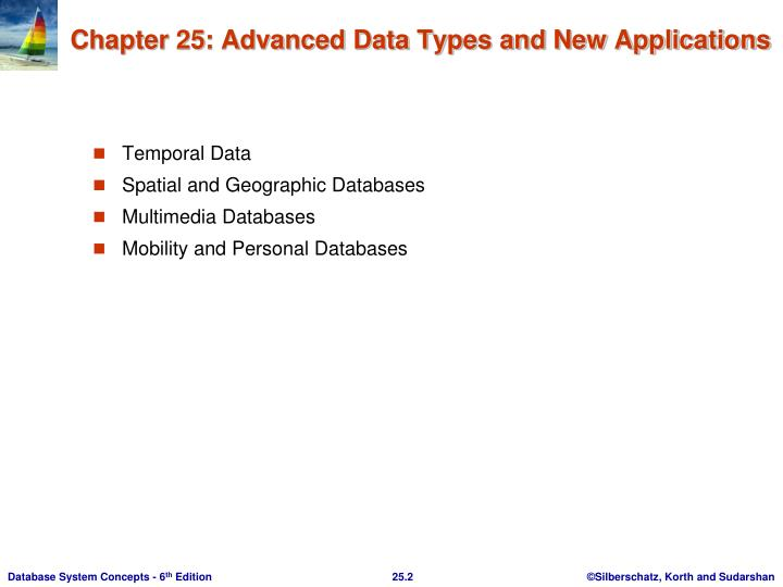 Chapter 25 advanced data types and new applications1