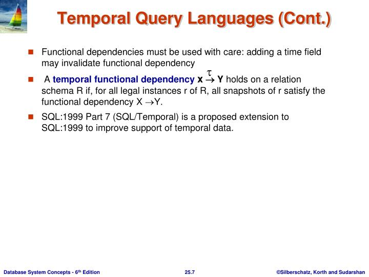 Functional dependencies must be used with care: adding a time field may invalidate functional dependency