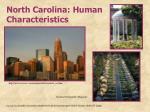 north carolina human characteristics