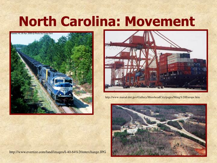 North Carolina: Movement