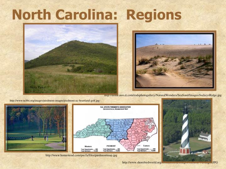 North Carolina:  Regions