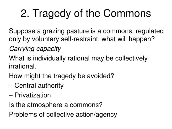 2. Tragedy of the Commons