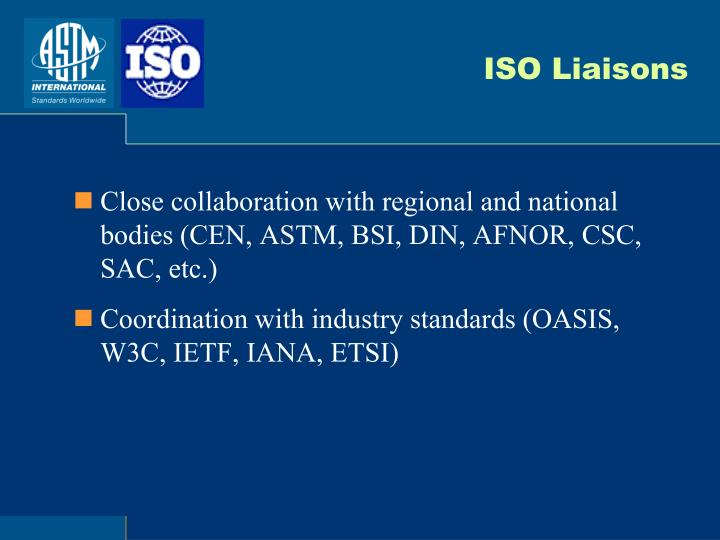 ISO Liaisons
