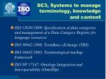 sc3 systems to manage terminology knowledge and conten t
