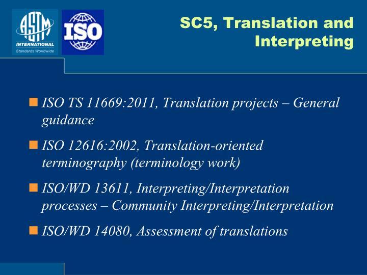 SC5, Translation and Interpreting