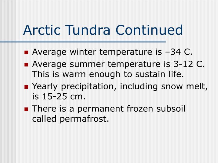Arctic Tundra Continued