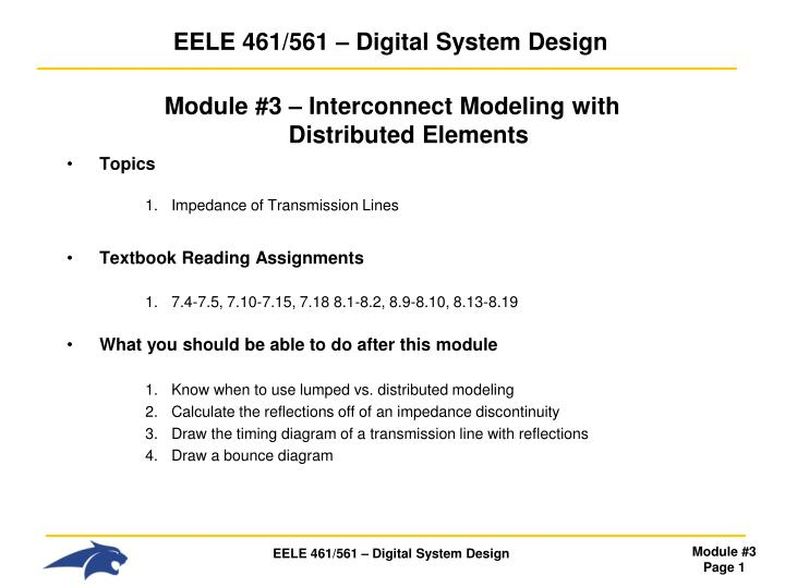 Eele 461 561 digital system design