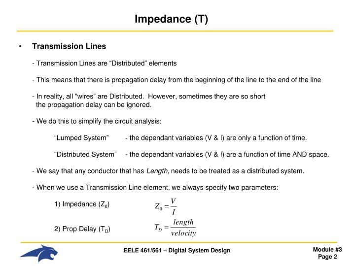 Impedance t