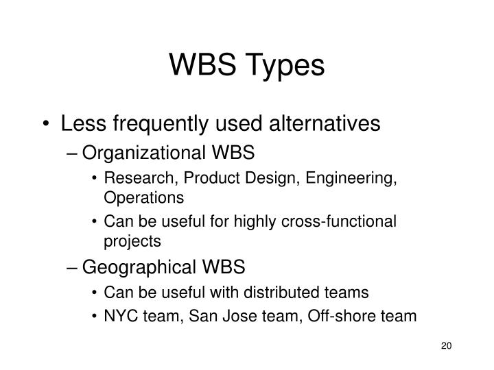 WBS Types