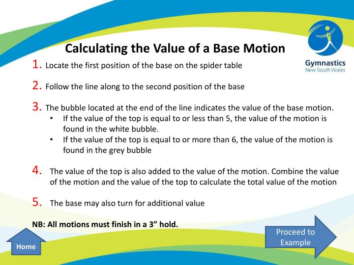Calculating the Value of a Base Motion