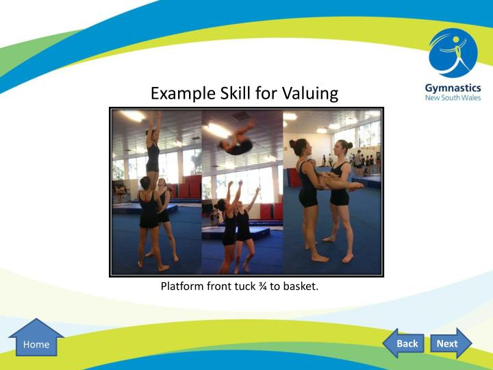 Example Skill for Valuing