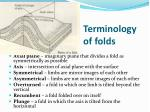 terminology of folds