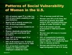 patterns of social vulnerability of women in the u s