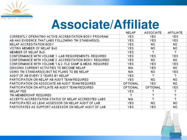 Associate/Affiliate