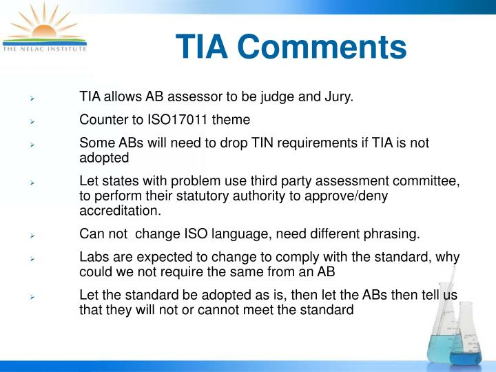 TIA Comments