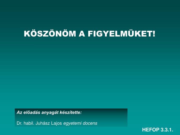 HEFOP 3.3.1.