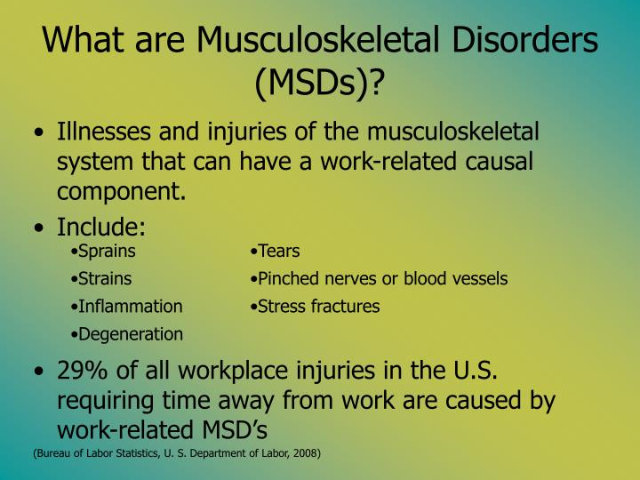 Category: Musculoskeletal Disorders
