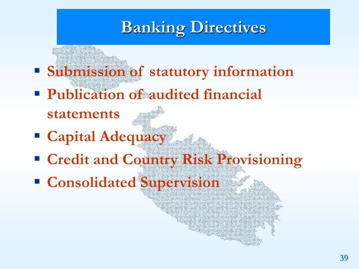 Banking Directives