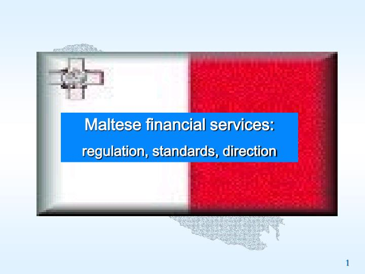 Maltese financial services: