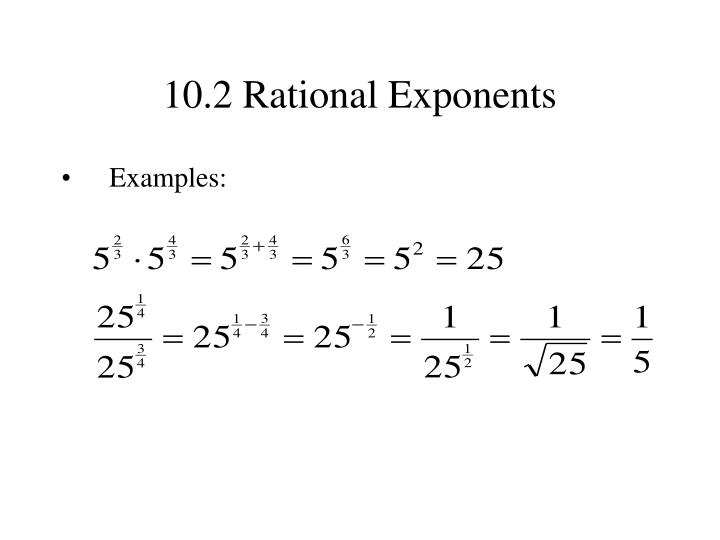 10.2 Rational Exponents