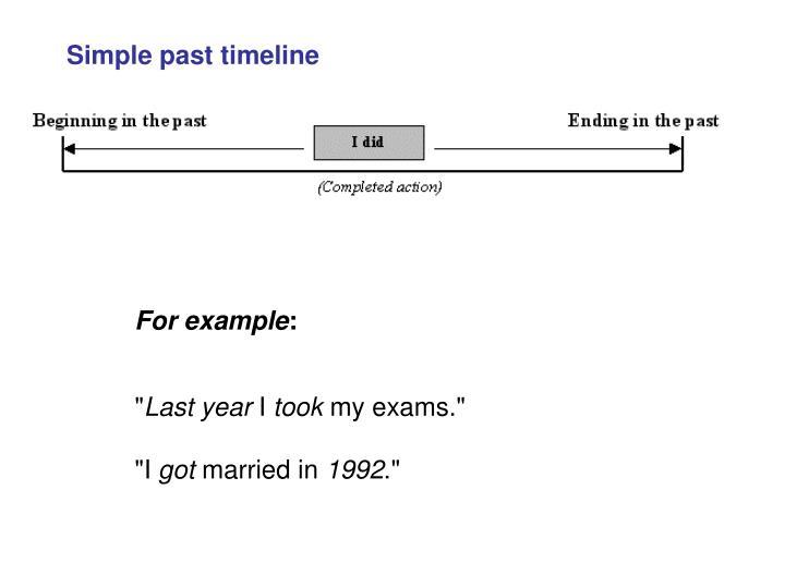 Simple past timeline