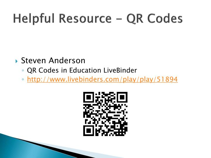 Helpful Resource - QR Codes