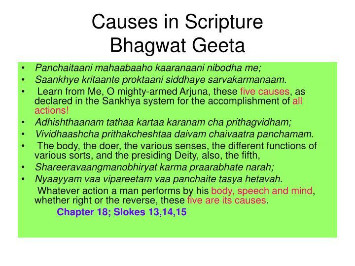 Causes in Scripture