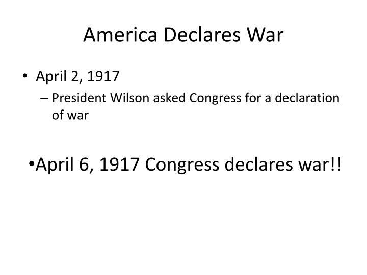 America Declares War