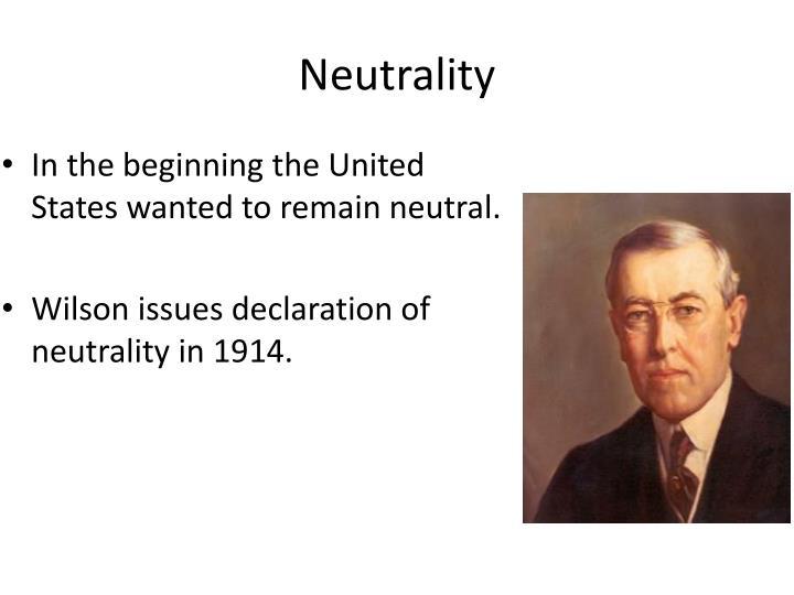 Neutrality