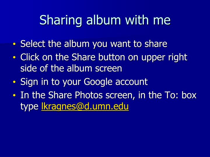 Sharing album with me