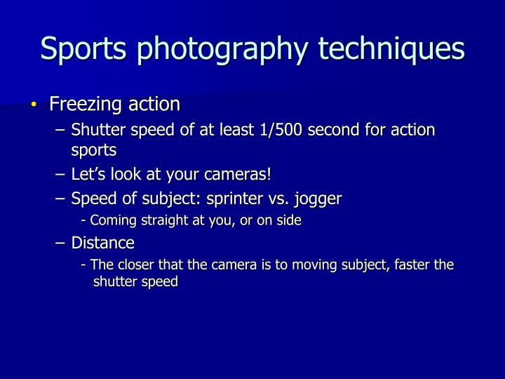 Sports photography techniques