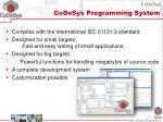 codesys programming system