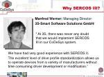 why sercos iii