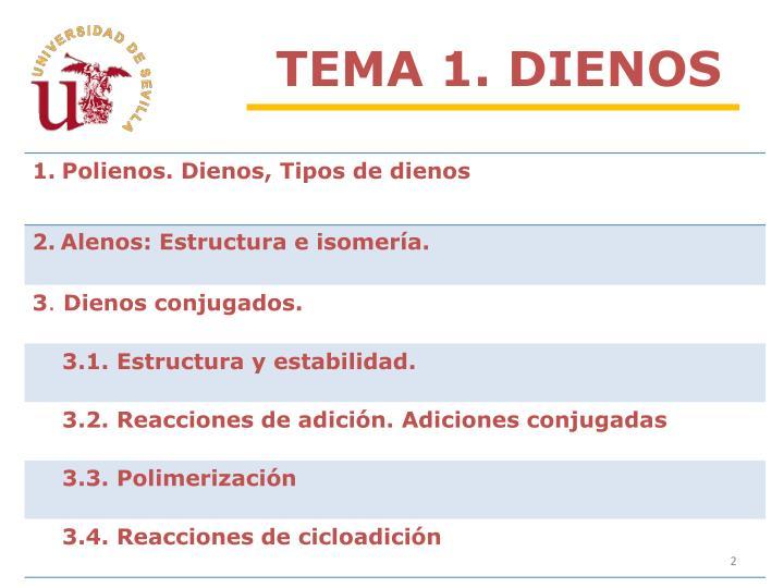 TEMA 1. DIENOS