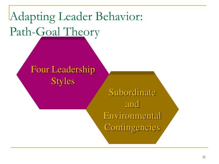 Adapting Leader Behavior: