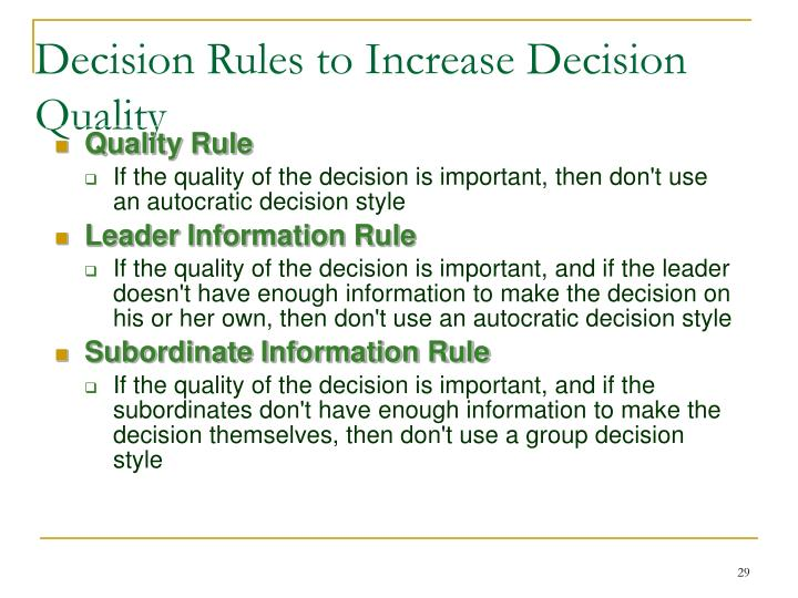 Quality Rule