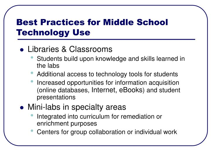 Best Practices for Middle School