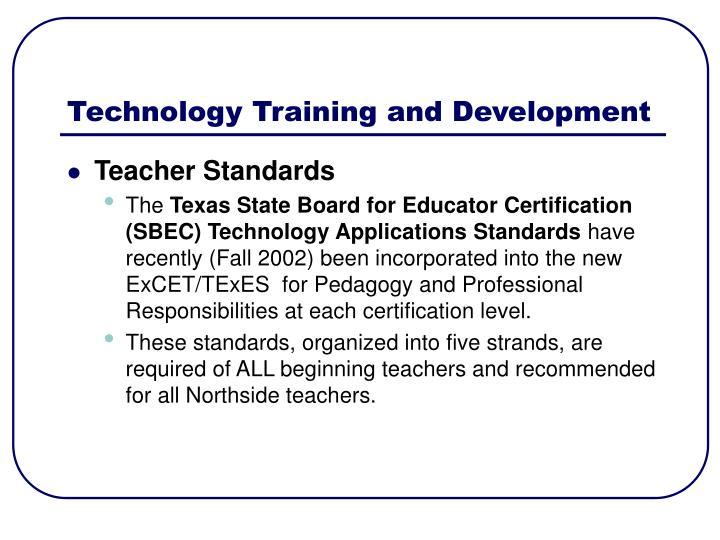 Technology Training and Development