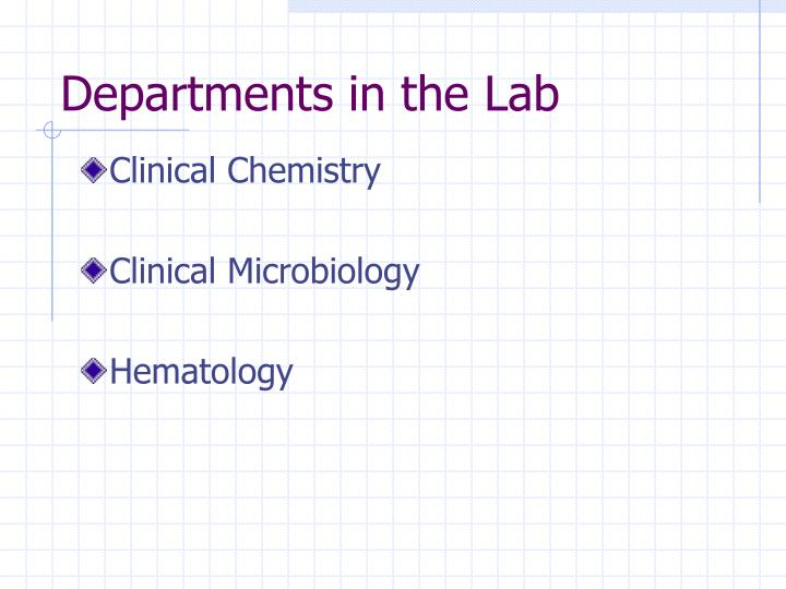 Departments in the Lab