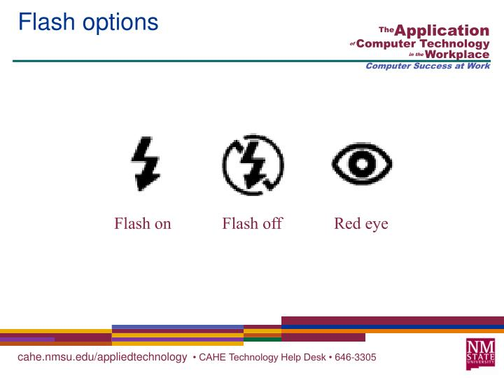 Flash options