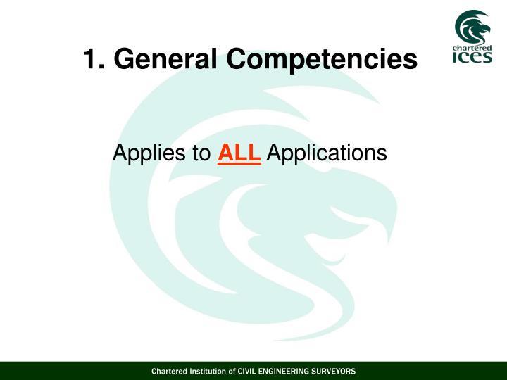 1. General Competencies