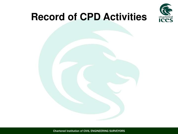 Record of CPD Activities