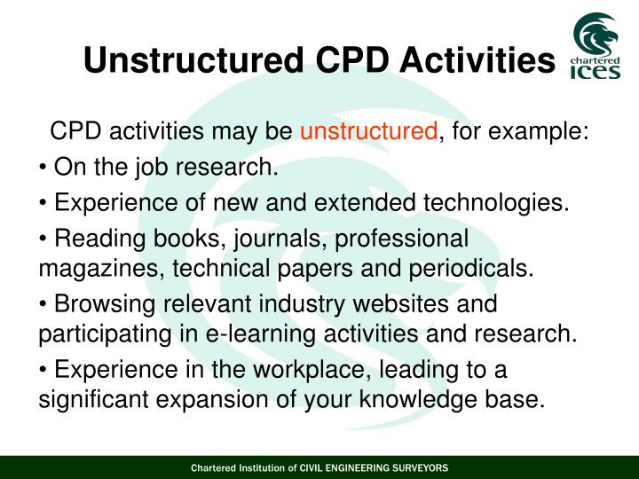 CPD activities may be