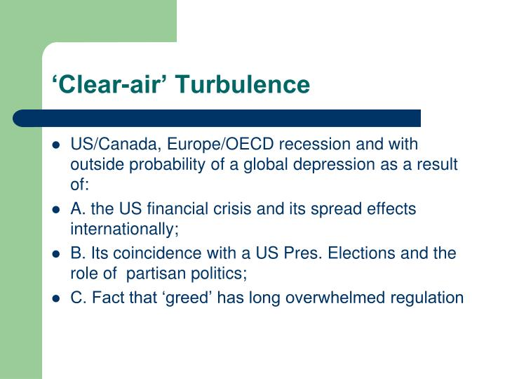 'Clear-air' Turbulence