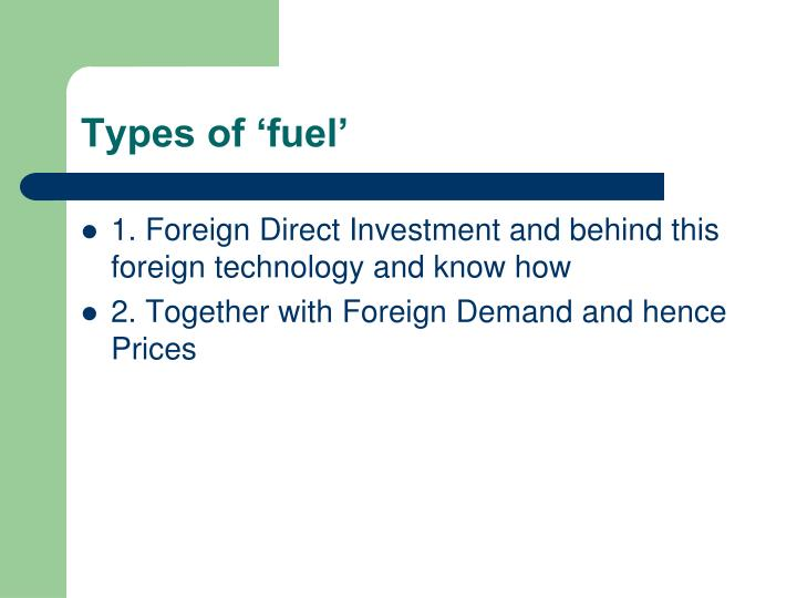 Types of 'fuel'