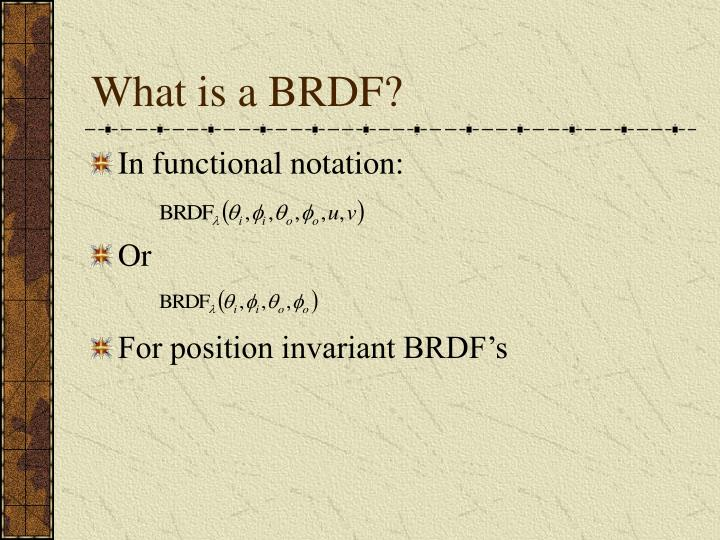 What is a BRDF?